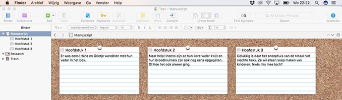 Scrivener outline